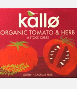Kallo Organic Tomato & Herb Cubes X6
