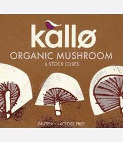 Kallo Organic Mushroom Cubes X6