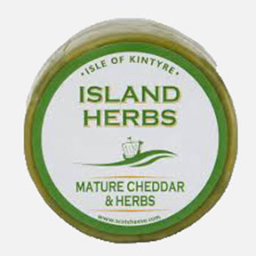 Mature Cheddar & Herbs Isle Of Kintyre Cheese 200g