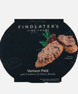 Venison Pate With Cranberry & Cherry Brandy 120g