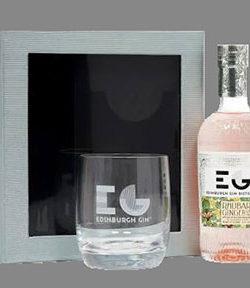 Edinburgh Rhubarb & Ginger Gin Liqueur (20cl) With Glass